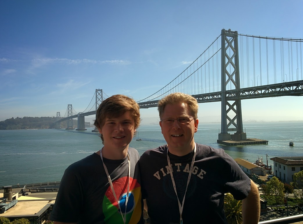 Me and Dad in San Francisco