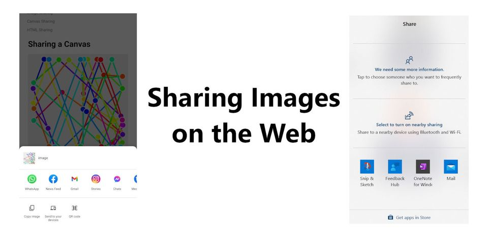 Sharing Images, Canvas and HTML using the Web Share API